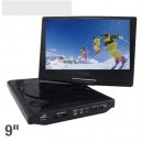 "New 22.9cm (9"") Portable DVD Player with Swivel Screen - SD/MMC Slot, USB - Black"