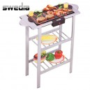 Swedia Electric BBQ - Splashproof Indoor/Outdoor Barbecue - Silver and Black
