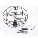 New iPhone/iPad/iPod Control 3CH Flying Ball RC Mini UFO with Gyro (777-174) - Black