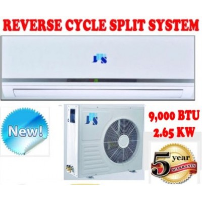 New 9000 BTU 2.65KW Split System Reverse Cycle Air Conditioner +TIMER & REMOTE