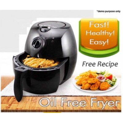 New 2.2L Air Fryer Lot Fat Oil Less Healthy Fast  Easy Cooker -BLK